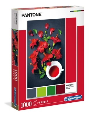 PUZZLE 1000PCS Coleção Pantone 3 - RED HIBISCUS - CLEMENTONI