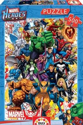 PUZZLE 500PCS Heróis Marvel  - EDUCA