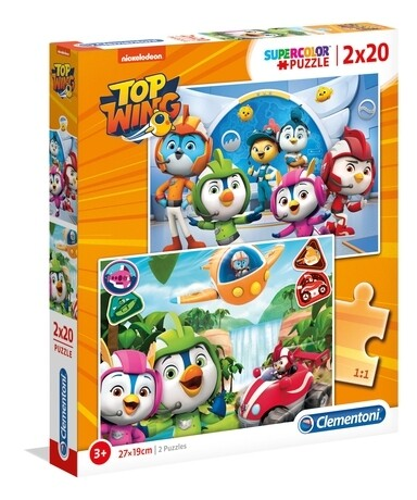PUZZLE Top Wing 2x20PCS - CLEMENTONI