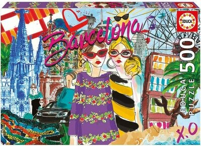 PUZZLE 500PCS Take me to Barcelona! - EDUCA