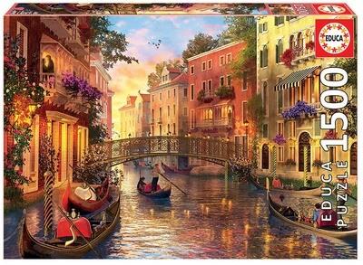 PUZZLE 1500PCS Pôr-do-Sol em Veneza - EDUCA
