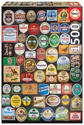 PUZZLE 1500PCS Etiquetas de Cerveja - EDUCA