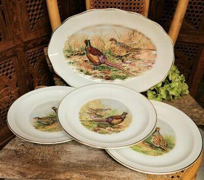 Set de platos Pájaros Vintage