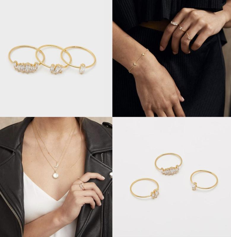 Amara Ring Set - Gold