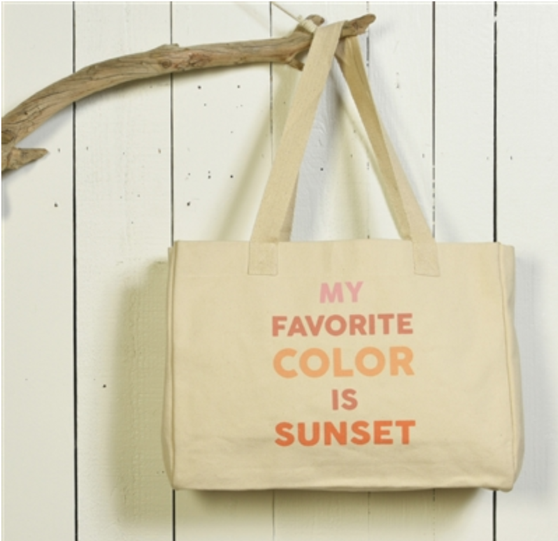 Beach Tote- My Favorite Color is Sunset