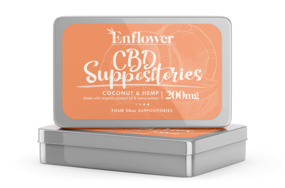 Enflower CBD Suppositories - 4 Pack 50mg Each