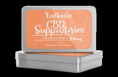 Enflower CBD Suppositories - 4 Pack 50mg Each