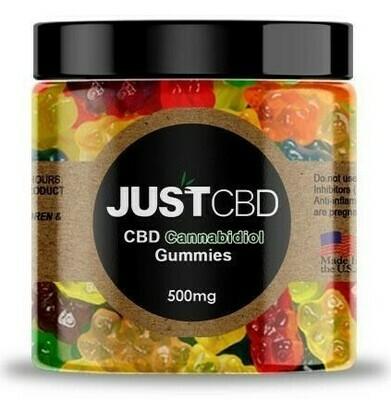 JustCBD Gummy Bears (500mg & 1000mg)