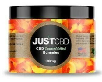 JustCBD Peach Rings (500mg)