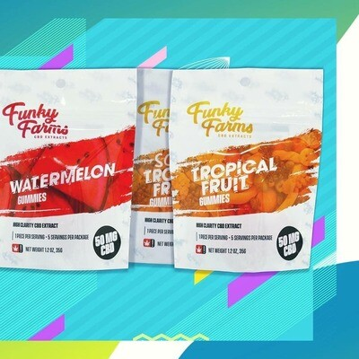 Funky Farms Gummies 5 pack (50mg)