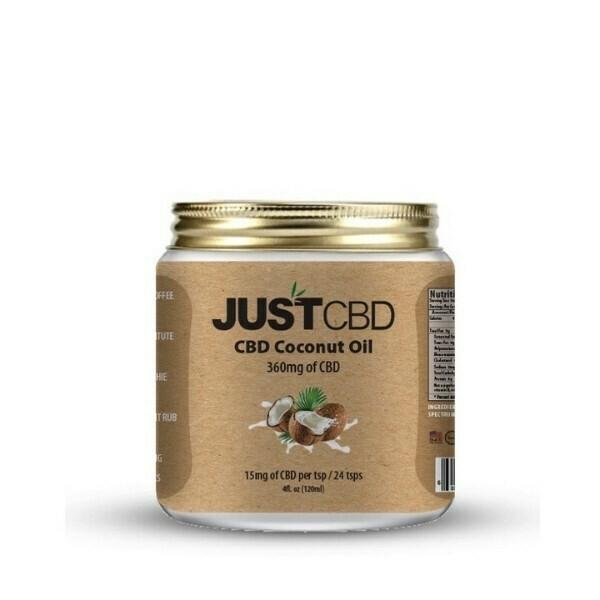 JustCBD Coconut Oil 4oz (360mg)