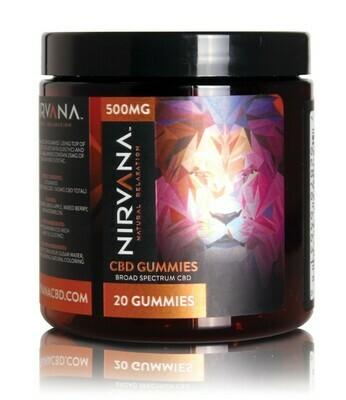 Nirvana Broad Spectrum Gummies (500mg)