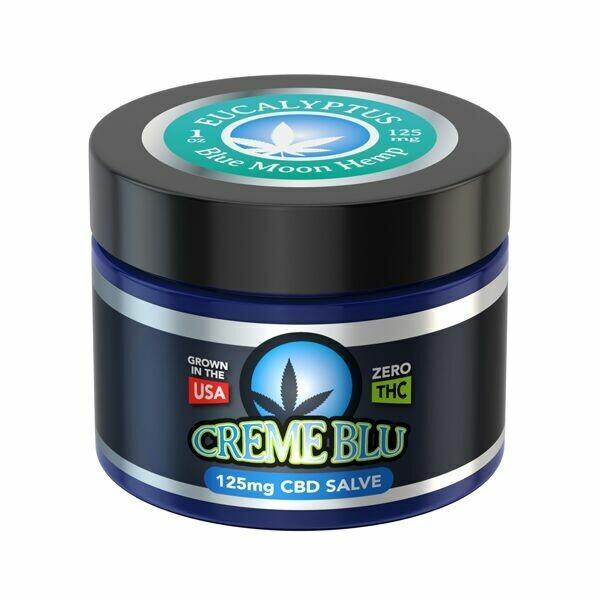 Blue Moon Hemp CBD Salve - Eucalyptus, Limonene, or Natural (1oz 125mg)