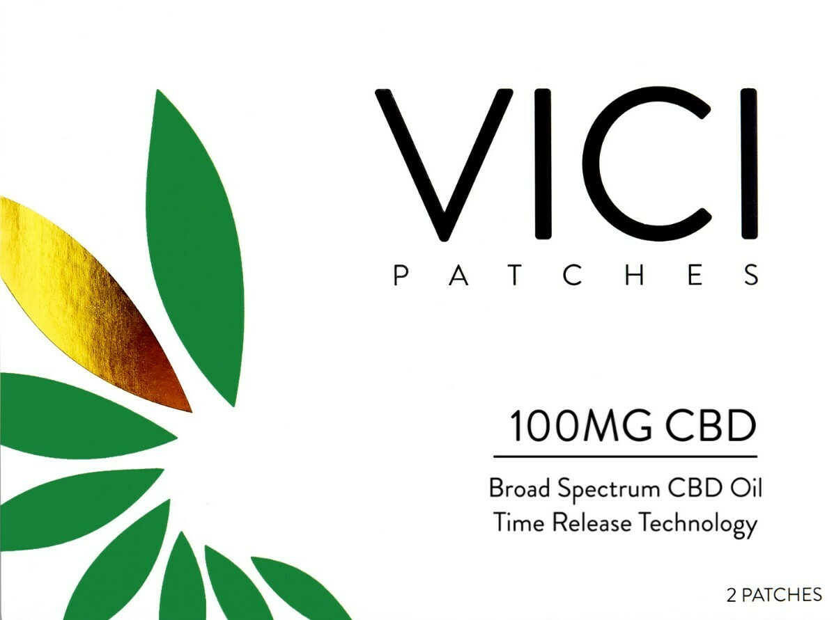 VICI – CBD Topical Patch – 2 Pack 100mg Each