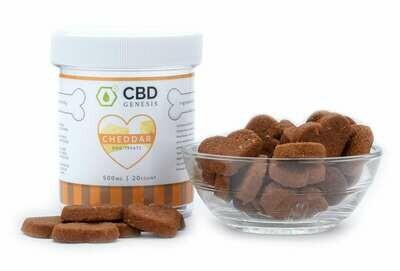 CBD Genesis Cheddar Dog Treats - 500mg & 1000mg
