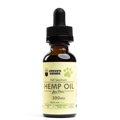 Steve's Goods CBD Hemp Oil For Pets - 300mg