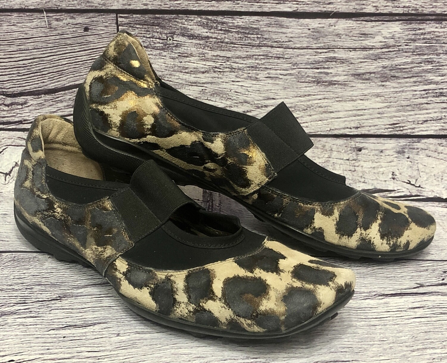 SESTO MEUCCI Animal Print Suede Mary Jane Sport Shoes size 6 1/2 M
