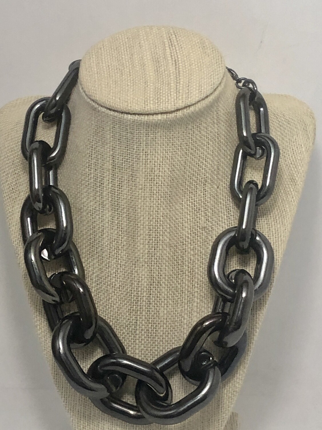 VCLM Smoke Silver Extreme Chain Link Necklace