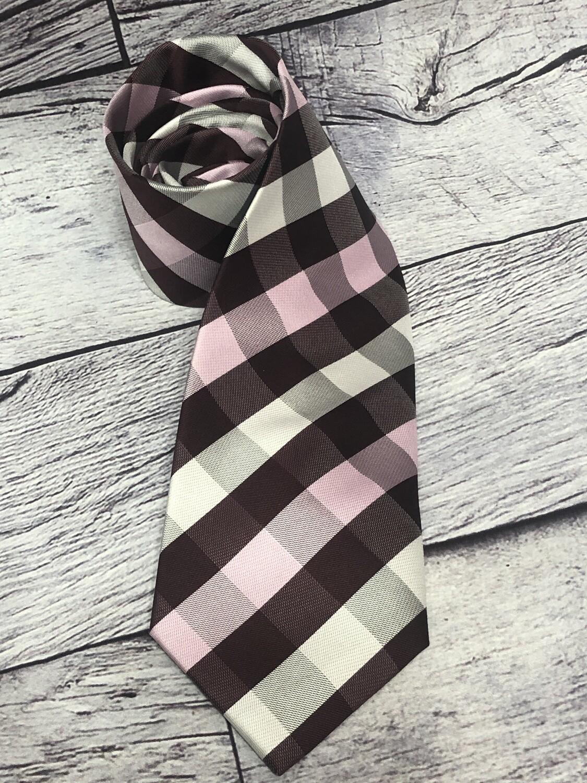 Mens SCOTT ALLAN Collection Gingham Check Silk Neck Tie
