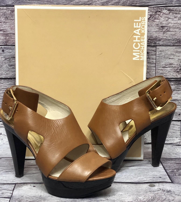 Michael Kors Carla Platform Sandal Heels size 7 1/2