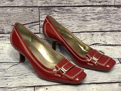 COLE HAAN Red Patent Leather Pumps Shoes size 8