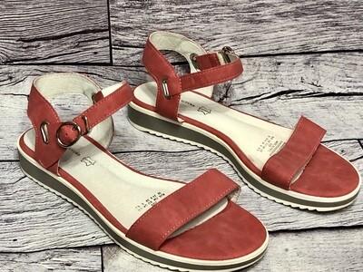 KEDDO COUTURE London Melon Strap Sandals size 8 1/2