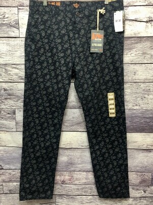 New Mens DOCKERS Alpha Collection Paisley Slouch Tapered Khaki Pants 32X32