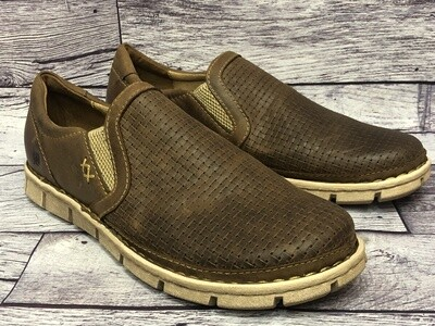 New Mens BORN Sawyer Woven Leather Slip-In's Shoes 10 1/2 M