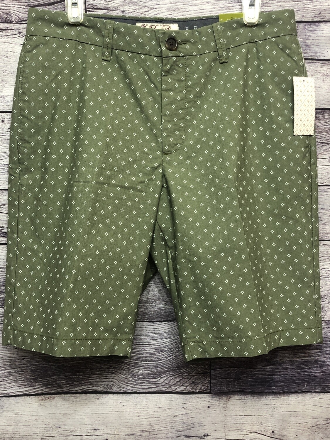 New Mens PENGUIN Olive Check Straight Fit Shorts $79 SIZE 32