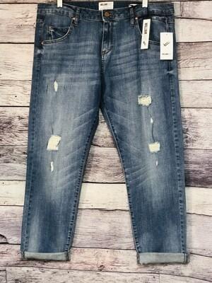 New WILLIAM RAST Slim Tomboy Blue Influence Distressed Jeans 30 $89