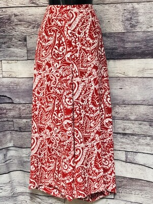 New Ann Taylor LOFT Red & White Palazzo Pants size 14 $69