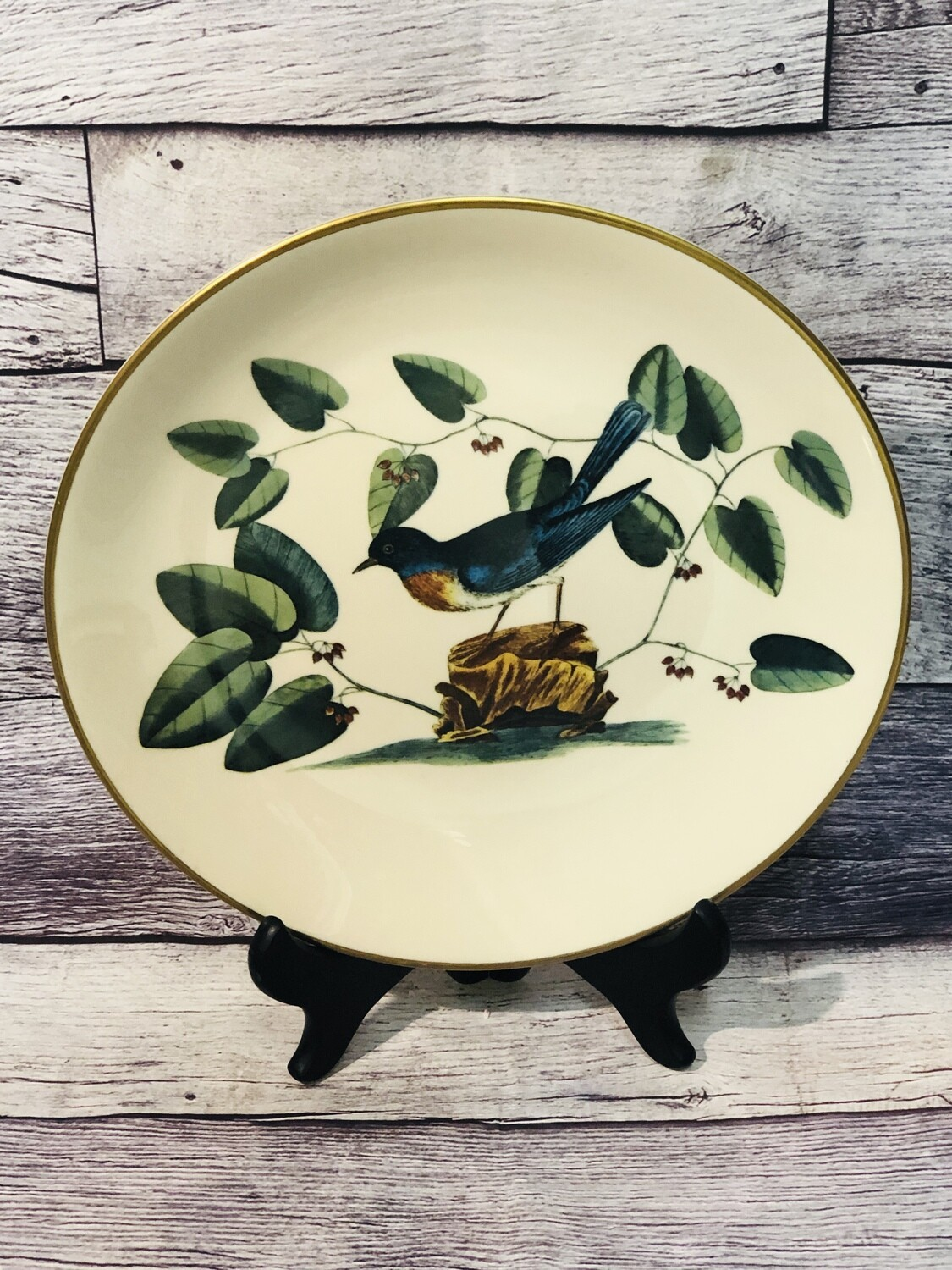 Limited Edition GORHAM Fine China Catesby Collection The Bluebird Plate
