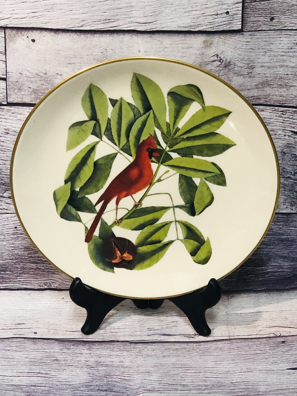 Limited Edition GORHAM Fine China Catebsy Collecton Cardinal Plate