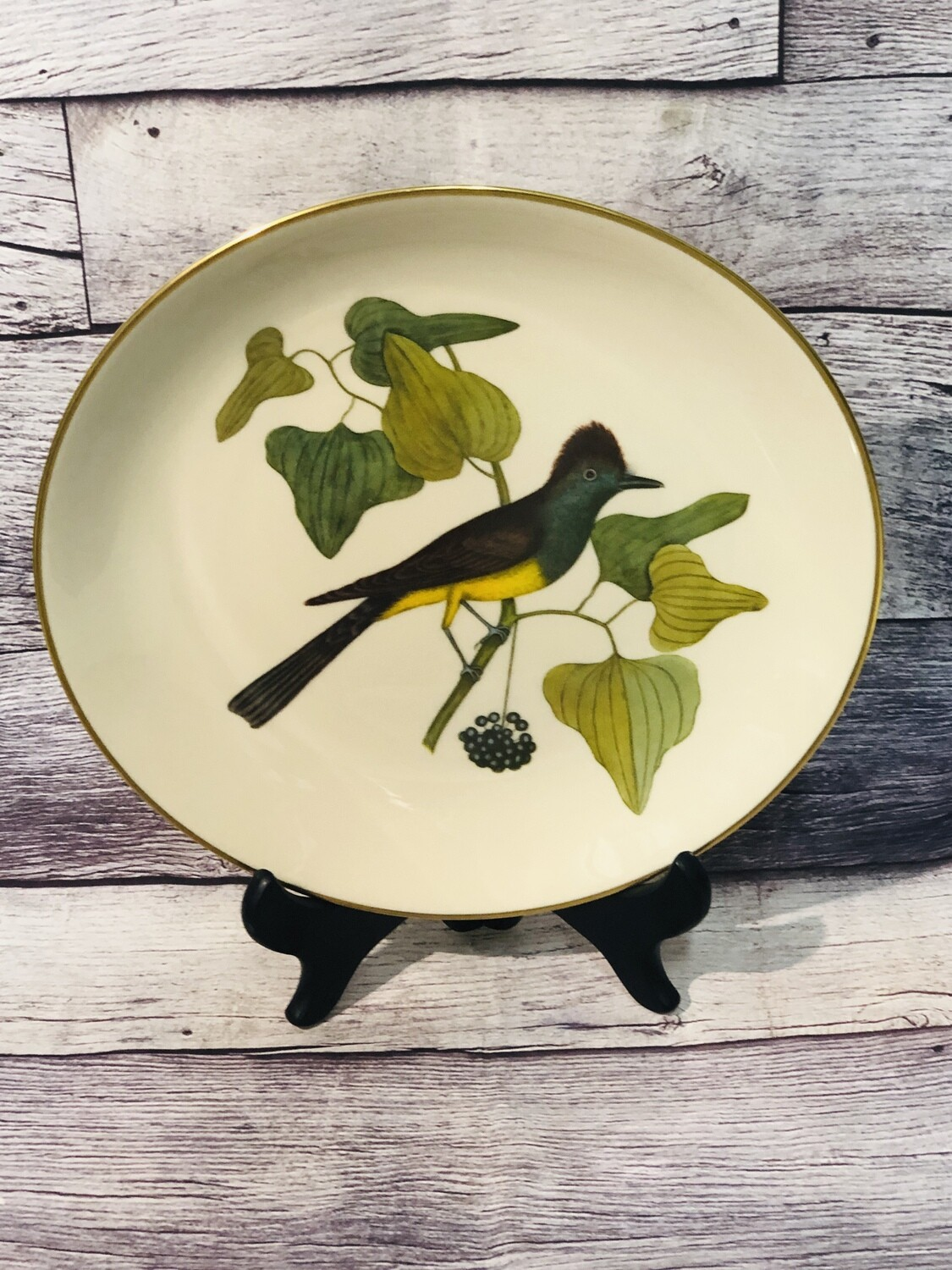 Limited Edition GORHAM Fine China Catesby Collection Crested Fly Catcher Plate