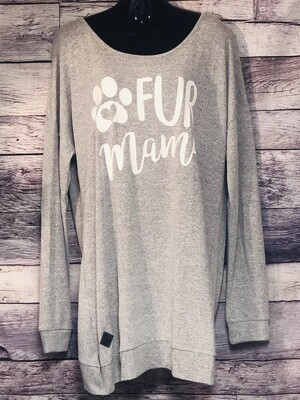 New SIMPLY SOUTHERN Collection FUR MAMA Pullover Backless Knit Top XXL