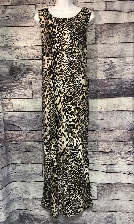 CHICOS Animal Print Long Sleeveless Maxi Dress size 3 (16/18)