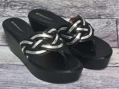 BCBGenration BG-NANAH Braided Platform Thong Sandals sz 11