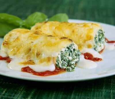 Cannelloni Ricotta and Spinach in Tomato & Cheese Sauce, Veg 350g c.