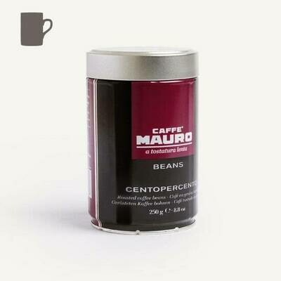 Caffè Mauro Centopercento Coffee Beans in Can 250g