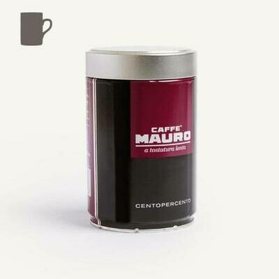 Caffè Mauro Centopercento Ground Coffee in Can 250g