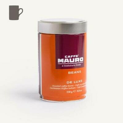 Caffè Mauro De Luxe Coffee Beans in Can 250g