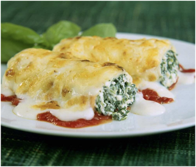 Cannelloni Gluten Free Ricotta and Spinach Veg T/A 300g
