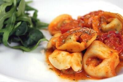 Fresh Tortelloni Filled with King Prawns & Scallops