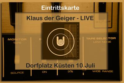 Live-Ticket Klaus der Geiger Küsten