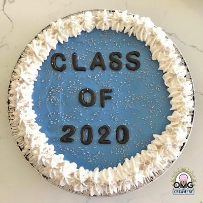 Graduation Ice Cream Pie - Blue