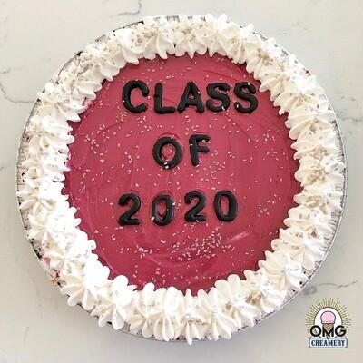 Graduation Ice Cream Pie - Maroon