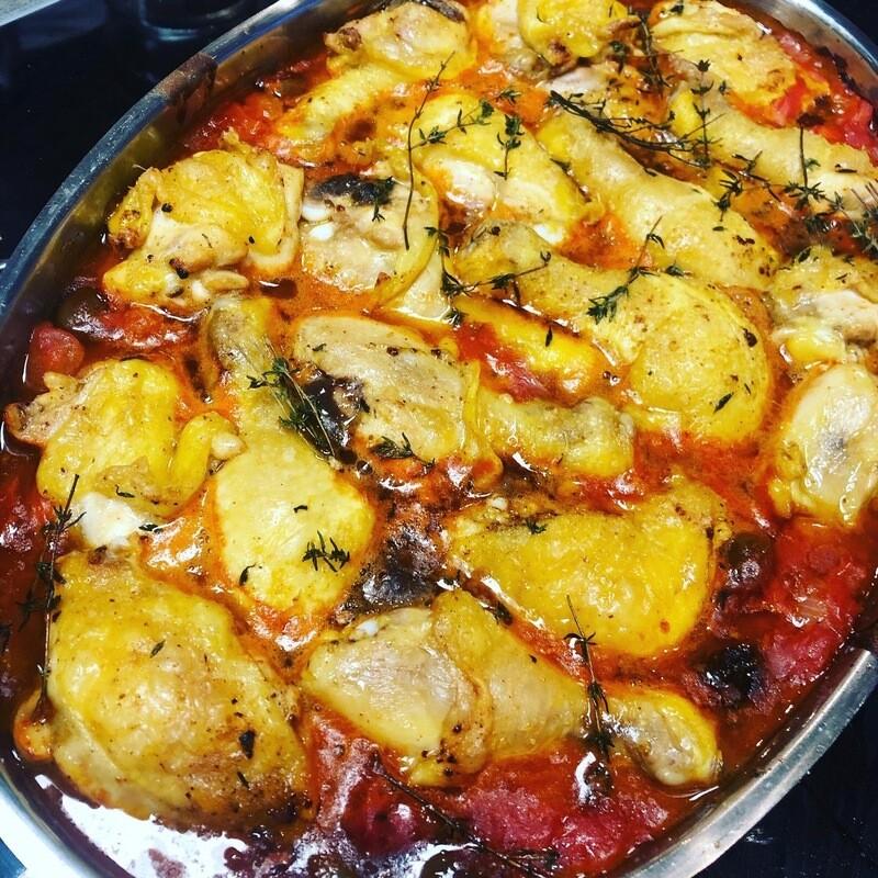 Hähnchen in Tomate