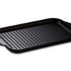 Grillplatte klein 36,5 x 21,5 x 2,5 cm gerippt für Herd und Grill Aluminium Guss Antihaft INDUKTION oder Außengrill