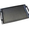 Grillplatte Teppanyaki mit Seitengriffen 41 x 24 x 2,5 cm für den Herd oder Backofen Aluminium Guss Antihaft INDUKTION oder Außengrill