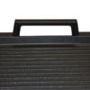 Grillplatte 41 x 24 x 2,5 cm gerippt mit Seitengriffen Aluminium Guss Antihaft INDUKTION oder Außengrill